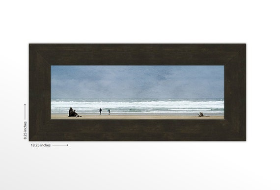 Cannon Beach on the Pacific Ocean. Beach Combing. Waves. Sand. Blue Sky. Surf Lover's Gift. Travel Photography. FREE SHIPPING.