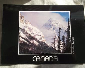 CANADIAN ROCKIES POSTCARD,Mountain Postcard,Canadian Mountain Postcard,Vintage 1983 Postcard,Canadian Postcard,Ephemera,Photograph Card