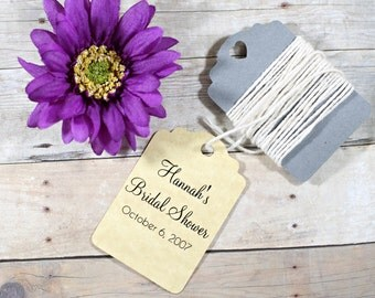 Antique Gold Thank You Tags Set of 20 - Bridal Shower Favors - Party Gift Tags - Wish Tree - Gold Favor Tags - Wedding Thank You Tags