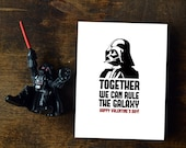 Darth Vader Valentines Day Card - Together Rule Galaxy || INSTANT DOWNLOAD