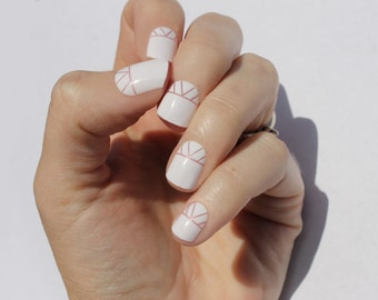 White Indio Nail Wraps