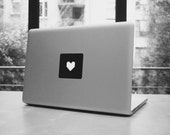 """Pixel heart for your macbook pro and air stickers decal for 11,13,15,17"""""""