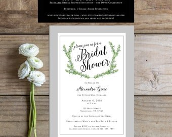Printable Bridal Shower Invitation - the Dawn Collection