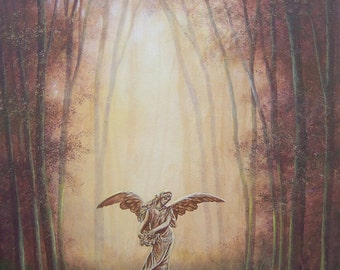 Angel in the Light // Original Painting // Acrylic on Canvas