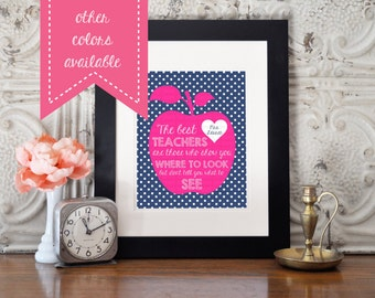 Teacher Appreciation Gift - 8x10 - Printable - Custom - Personalized