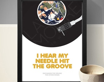 The Stone Roses - She Bangs The Drums Print, Music Poster, Song Lyric Print, Song Lyrics