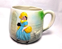 Mary Had a Little Lamb, Royal Art Pottery, Vintage Child's Cup, English Pottery, Nursery Ware, Small Mug, Nursery Rhyme, Made in England