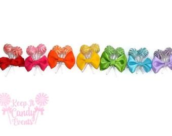 Custom Lollipop Hair Clips, Candy Hair Clips, Candy Wedding Ideas, Unique Flower Girl Ideas, Birthday Girl Hair Clips, Candy Theme Events