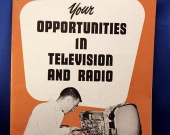 Vintage 1950s Television Radio Repair School Flyer Booklet Advertising Ephemera Technical Training Institute