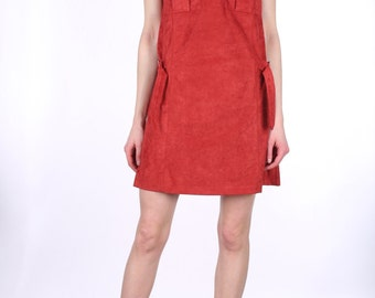 Rust Red Suede Dress.