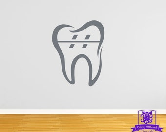 Orthodontic Tooth with Braces Wall Decal