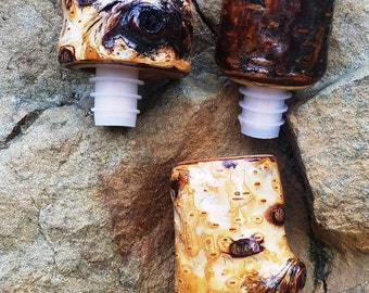 Rustic Birch bottle stoppers
