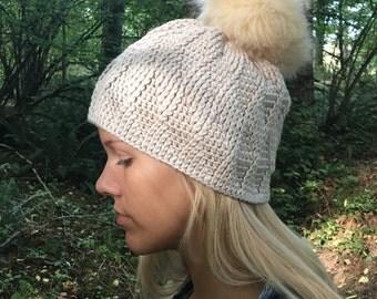 CROCHET PATTERN Men or Womens Oakley Textured Beanie Hat Instant Download PDF