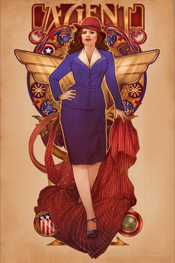 Call Me Agent - Agent Carter - signed 11x17 Poster