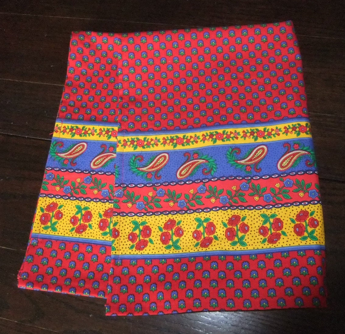 Banded French Country Kitchen Towels Vibrant Provincial