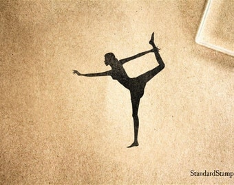 Scorpion Yoga  Pose Rubber Stamp - 2 x 3 inches