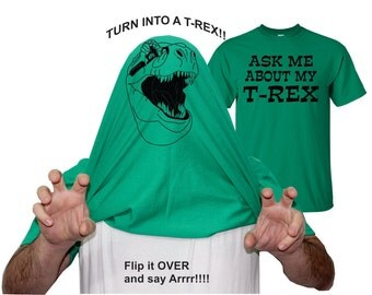 Funny T Shirt Ask Me About My T Rex Shirt Trex Dinaour Shirt TShirt Mens Womens Youth Shirts Funny Flip up Shirt