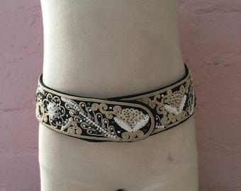 Beaded Vintage Mid-Century Handmade Belt From India