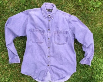 Vintage Purple Denim Shirt