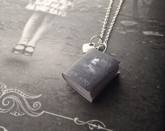 Handmade Miss Peregrine's Home For Peculiar Children Miniature Book Necklace // Ransom Riggs Book Necklace