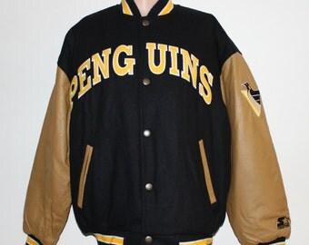 Vintage Pittsburgh Penguins STARTER Varsity NHL Jacket L