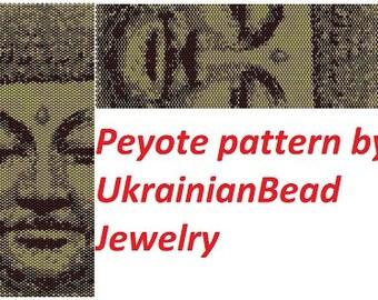 Buddha patterns Buddha jewelry pattern tibetian bracelet Chakra bracelet Buddhist bracelet patterns Religious bracelet beading pattern shop