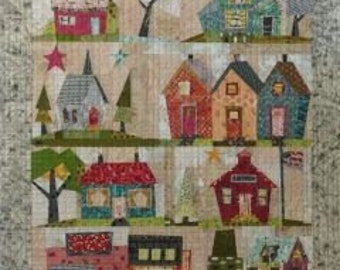 Fiberworks Laura Heine Collage My Kinda Town House Quilt Pattern 42 x 54