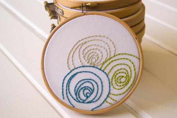 Modern embroidery kit hoop art diy stitch by