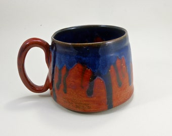 huge mug 28 oz mug  tea mug  beer mug Stoneware food safe lead free Glaze
