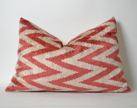Ikat Throw Pillows Etsy : Ikat Chevron Velvet Pillow Cover Ikat Pillows by pillowme on Etsy