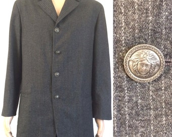 1992 Gianni Versace Wool/Cashmere Men's Jacket Iconic Buttons Sz. 50/ 44 Chest