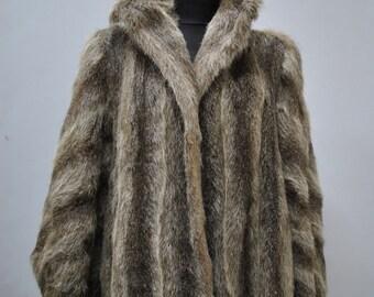 Vintage FOX FUR full length coat ....(039)