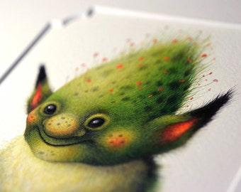 """Original painting - """"Little Moss"""""""
