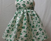 """Irish Blessings for your AG doll -- The perfect dress so your Doll Friend doesn't get """"pinched"""" on St. Patrick's Day.  Ready to ship today."""