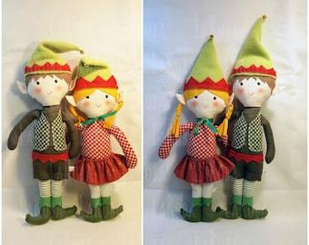 Rag doll: boy and girl Elves