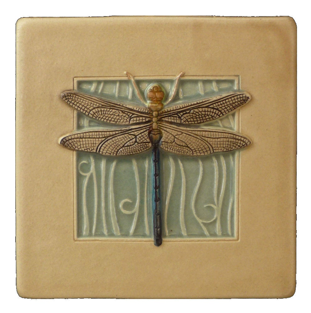 Dragonfly Wall Decor art tile dragonfly wall decor 4 x 4 inches