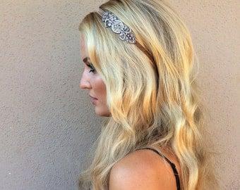 Silver Gatsby Headband 1920s Headpiece, Bronze Gatsby Headpiece, gold Great Gatsby Headpiece BRONZE