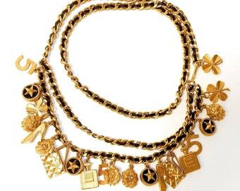 Vintage CHANEL charm belt necklace