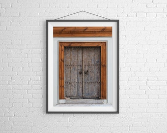 Fine Art Photography Print - Architecture, Abstract - A textured doorway - Plovdiv, Bulgaria