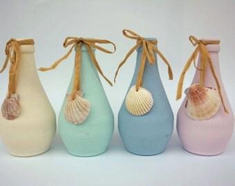 Upcycling Vases, Flower Vases, Jars, Candle holders, Set of 4