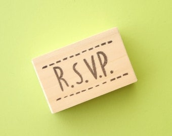 RSVP rubber stamp, Wedding invitations, DIY wedding stamp, Save the date, Kawaii stationery, Handmade stamp,