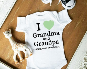 COMING SOON I love Grandma and Grandpa Baby CUSTOMIZE Heart Color Bodysuit by Simply Chic Baby Boutique