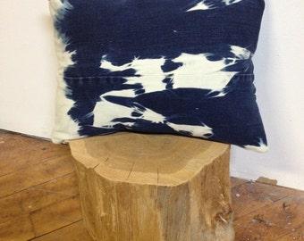 Shibori Denim Pillow