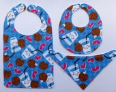 Milk and Cookies! Bibs for Babies to Toddlers and beyond!