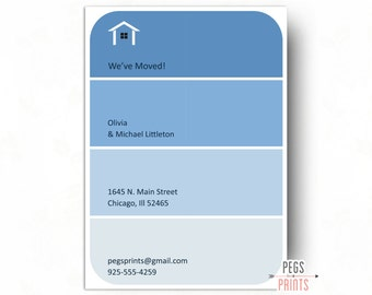 Paint Swatch Moving Announcement Printable - Paint Swatch Moving Cards - New Address Announcement - New Address Cards - New Home Card