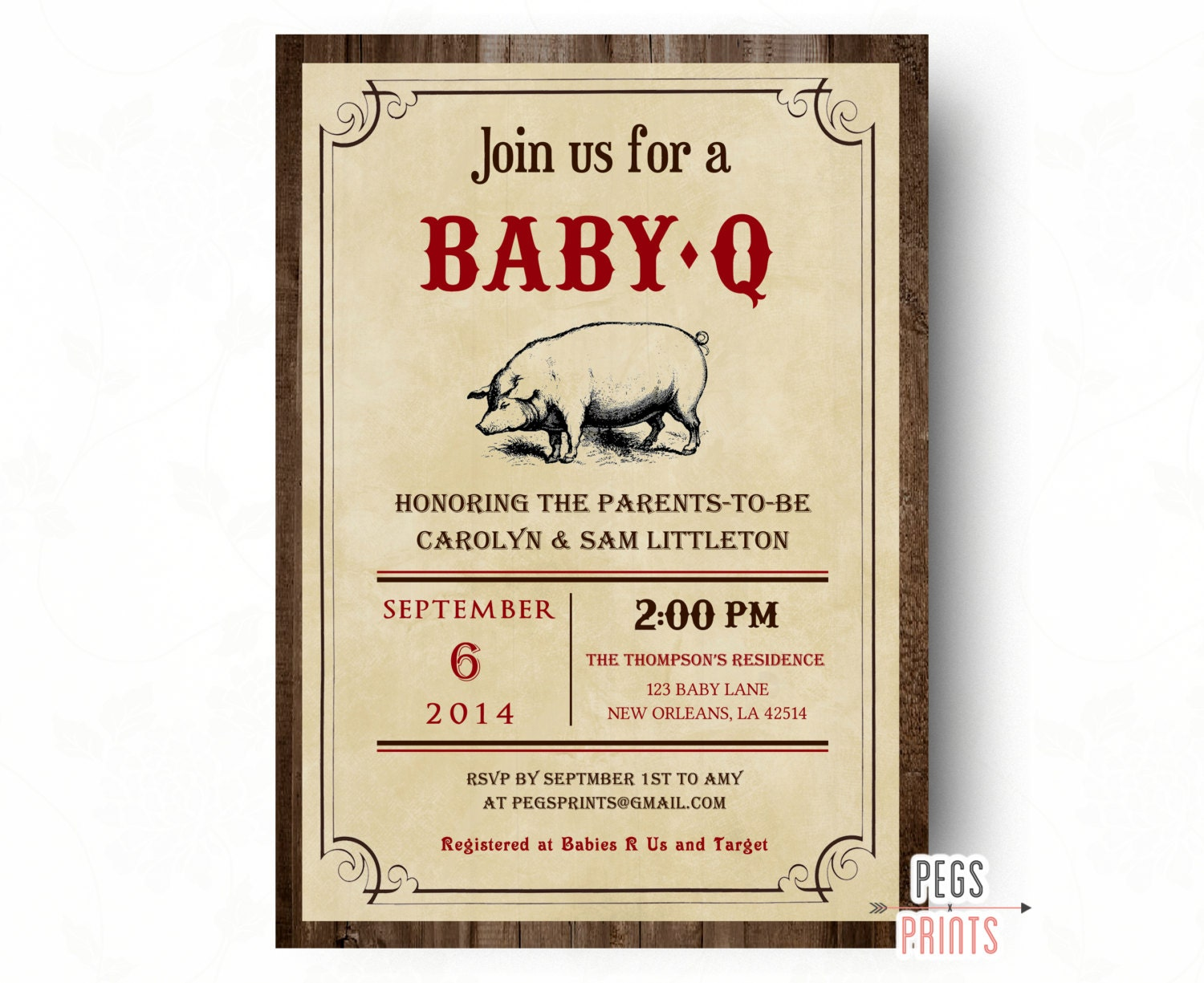 baby q shower invitations printable rustic baby shower