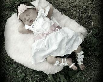 Infant White Gladiator Sandals