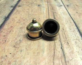 Brass Ox Cord Ends, TierraCast Pagoda Cord Ends, Oxidized Brass Cord Ends, TierraCast Findings, Cord Ends, Brass Cord Ends, Destash, 10mm