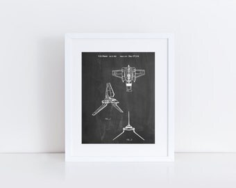 Star Wars Lambda Class T-4a Imperial Shuttle Patent Poster, Star Wars Gifts, Movie Wall Art, Empire Strikes Back, PP0100
