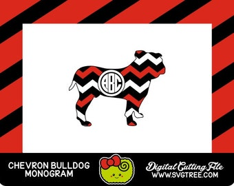 Bulldog SVG, Bulldog Monogram, Georgia SVG, SVG Files, Vector Art, Cricut Design Space, Silhouette Studio, Digital Cut Files